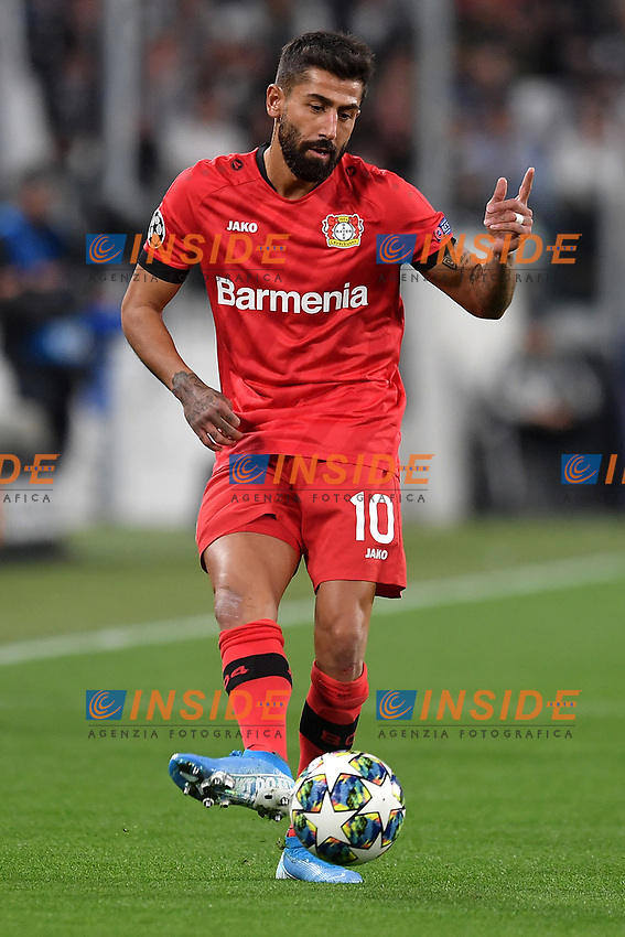 Kerem Demirbay of Leverkusen <br /> Torino 01/10/2019 Juventus Stadium <br /> Football Champions League 2019//2020 <br /> Group Stage Group D <br /> Juventus - Leverkusen <br /> Photo Andrea Staccioli / Insidefoto