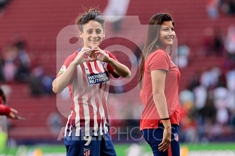 Atletico de Madrid's Esther Gonzalez during Liga Iberdrola match between Atletico de Madrid and FC Barcelona at Wanda Metropolitano Stadium in Madrid, Spain. March 17, 2019. (ALTERPHOTOS/A. Perez Meca)
