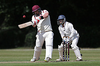 J Redwood of Brentwood during Brentwood CC vs Ilford CC, Shepherd Neame Essex League Cricket at The Old County Ground on 8th June 2019