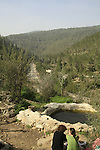 Israel, Ein El Kaf, a spring in Jerusalem mountains