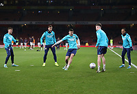 Leeds United players warm-up prior to the game<br /> <br /> Photographer Rob Newell/CameraSport<br /> <br /> Emirates FA Cup Third Round - Arsenal v Leeds United - Monday 6th January 2020 - The Emirates Stadium - London<br />  <br /> World Copyright © 2020 CameraSport. All rights reserved. 43 Linden Ave. Countesthorpe. Leicester. England. LE8 5PG - Tel: +44 (0) 116 277 4147 - admin@camerasport.com - www.camerasport.com