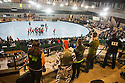 The Oakland Outlaws skated against the Berkeley Resistance in the first bout of the Bay Area Derby Girls second double header of the season. The bouts were held at San Francisco's Armory on Saturday, April 26 2014.