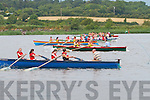 Action from the start of the U14 girls at the Callinafercy Regatta on Sunday.