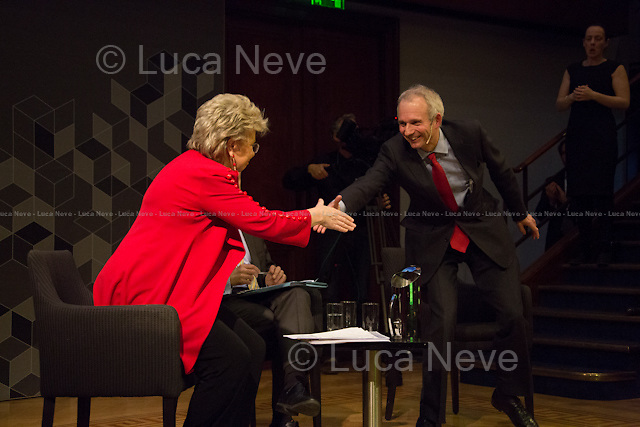 (From L to R) Viviane Reding and David Lidington. <br />