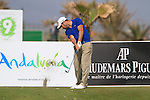 Jean-Babtiste Gonnet (FRA) tees off on the par3  9th hole during Day 2 Friday of the Open de Andalucia de Golf at Parador Golf Club Malaga 25th March 2011. (Photo Eoin Clarke/Golffile 2011)