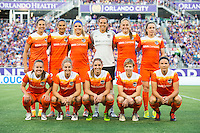Orlando, Florida - Saturday, April 23, 2016: The starting XI for Houston Dash during an NWSL match between Orlando Pride and Houston Dash at the Orlando Citrus Bowl.