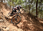 7th September 2017, Smithfield Forest, Cairns, Australia; UCI Mountain Bike World Championships;Laurie Greenland (GBR) from MS MONDRAKER TEAM during downhill practice