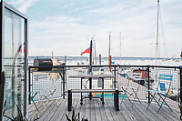 BNPS.co.uk (01202 558833)<br /> Pic: Aucoot/BNPS<br /> <br /> House Boat Heaven...<br /> <br /> The boat enjoys stunning breathtaking sea views across the Solent.<br /> <br /> A former coal barge that has been converted into a stylish two storey houseboat has emerged for sale for £400,000.<br /> <br /> Liverpool 91 comes with its own tidal mooring in Gosport, Hants, which enjoys stunning breathtaking sea views across the Solent.<br /> <br /> On one side of the spot is Portsmouth - home of the Royal Navy - while on the other the Isle of Wight.<br /> <br /> It was transformed by the current owners around six years ago and they have lived on the vessel ever since.