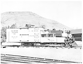 RGS Goose #2 right side with plow on pilot.<br /> RGS  Colorado Railroad Museum, Golden, CO  Taken by Payne, Andy M. - 3/4/1974