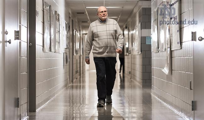 Mar. 2, 2015; Ken Garcia in the hallways of Stepan Chemistry. (Photo by Matt Cashore/University of Notre Dame)