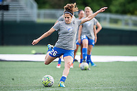 Allston, MA - Sunday, May 22, 2016: Boston Breakers midfielder Angela Salem (26) during warmups before a regular season National Women's Soccer League (NWSL) match at Jordan Field.