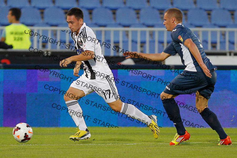 Fudbal Super liga season 2013-2014<br /> Partizan v Rad<br /> Andrija Zivkovic (L) and Nikola Antic<br /> Beograd, 01.09.2013.<br /> foto: Srdjan Stevanovic/Starsportphoto &copy;