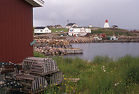 Cape Breton, Cabot Trail, Nova Scotia, NS, Canada, Atlantic Ocean, Scenic view of Neil's Harbor on Cape Breton Island on in Nova Scotia.