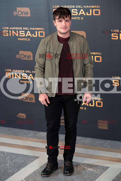 "Actor Josh Hutcherson during the presentation of film ""The Hunger Games: Sinsajo Part 2"" in Madrid, Novermber 10, 2015.<br /> (ALTERPHOTOS/BorjaB.Hojas)"