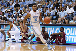 06 November 2015: North Carolina's Joel Berry II. The University of North Carolina Tar Heels hosted the Guilford College Quakers at the Dean E. Smith Center in Chapel Hill, North Carolina in a 2015-16 NCAA Men's Basketball Exhibition game. UNC won the game 99-49.