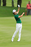 Kevin Na (USA) on the 7th during Round 3 of the CIMB Classic in the Kuala Lumpur Golf & Country Club on Saturday 1st November 2014.<br /> Picture:  Thos Caffrey / www.golffile.ie