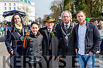 the Grand Marshalls kate O'Leary , Mick clifford, Michael O'connor, Mixhael gleeson and Brendan Kealy the Killarney St Patricks Day parade