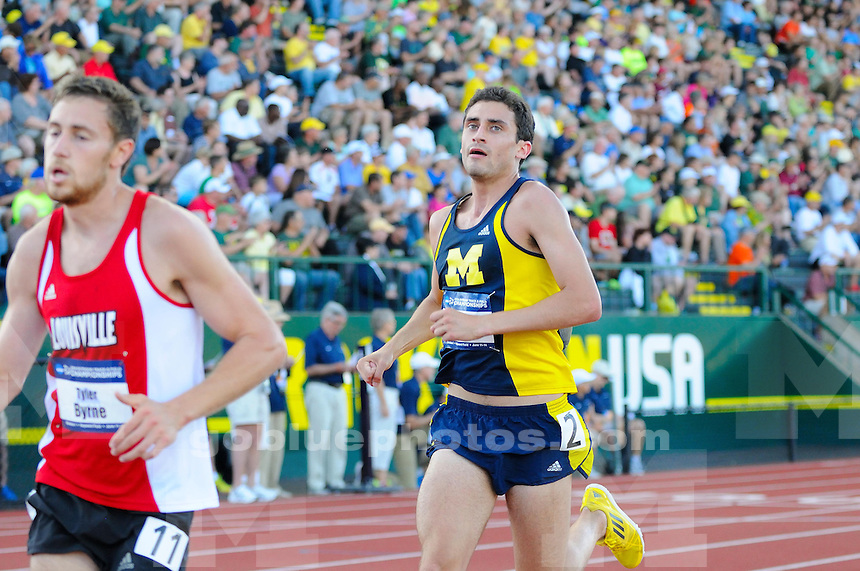 The University of Michigan Men's track and field team's compete on the first day of the 2014 Outdoor NCAA Track and Field Championships at Hayward Field. Eugene, OR. June 11, 2014