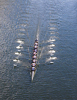 University of Washington Eight Man Rowing Team Breaks 20-year Course Record in Time of 5:30.00 Minutes, Windermere Cup 2017, Mountlake Cut, Lake Washington, Seattle, WA, USA.