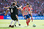 Atletico de Madrid's Luciano Vietto and Sevilla's Daniel Filipe Carrico during La Liga match between Atletico de Madrid and Sevilla FC at Wanda Metropolitano Stadium in Madrid, Spain September 23, 2017. (ALTERPHOTOS/Borja B.Hojas)