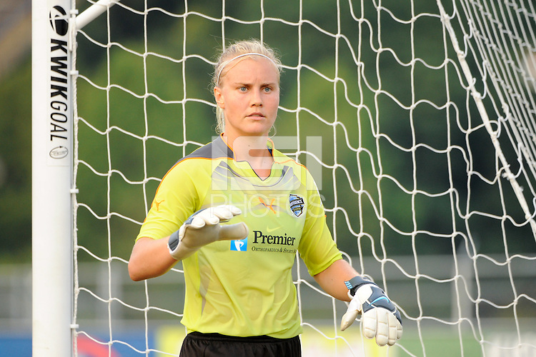 Philadelphia Independence goalkeeper Val Henderson (1). The Philadelphia Independence defeated Sky Blue FC 4-1 during a Women's Professional Soccer (WPS) match at John A. Farrell Stadium in West Chester, PA, on July 24, 2010.
