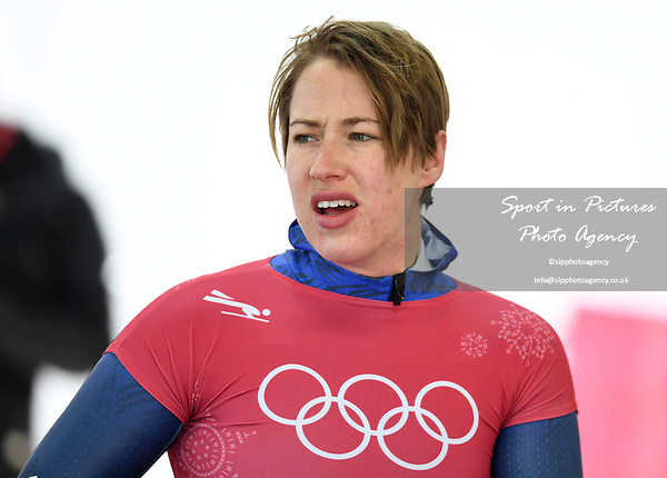 Lizzy Yarnold (GBR). Womens skeleton training. Pyeongchang2018 winter Olympics. Alpensia sliding centre. Alpensia. Gangneung. Republic of Korea. 12/02/2018. ~ MANDATORY CREDIT Garry Bowden/SIPPA - NO UNAUTHORISED USE - +44 7837 394578