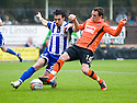 :: ALEXEI EREMENKO AND DUNDEE UTD'S DANNY SWANSON CHALLENGE FOR THE BALL :: .23/04/2011   Copyright  Pic : James Stewart.sct_jsp018_dundee_utd_v_kilmarnock .James Stewart Photography 19 Carronlea Drive, Falkirk. FK2 8DN      Vat Reg No. 607 6932 25.Telephone      : +44 (0)1324 570291 .Mobile              : +44 (0)7721 416997.E-mail  :  jim@jspa.co.uk.If you require further information then contact Jim Stewart on any of the numbers above.........