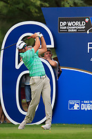 Dean Burmester (RSA) on the 16th tee during the 3rd round of the DP World Tour Championship, Jumeirah Golf Estates, Dubai, United Arab Emirates. 17/11/2018<br /> Picture: Golffile | Fran Caffrey<br /> <br /> <br /> All photo usage must carry mandatory copyright credit (© Golffile | Fran Caffrey)