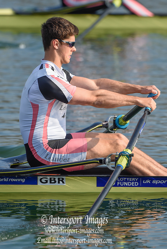 Caversham  Great Britain.<br /> Angus GROOM GBR M1X, in the opening stroke W1X semi final A/B<br /> 2016 GBR Rowing Team Olympic Trials GBR Rowing Training Centre, Nr Reading  England.<br /> <br /> Tuesday  22/03/2016 <br /> <br /> [Mandatory Credit; Peter Spurrier/Intersport-images]