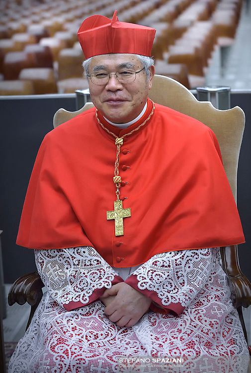 Cardinal Thomas Aquinas Manyo Maeda, Pope Francis leads a consistory for the creation of five new cardinals  at St Peter's basilica in Vatican on  June 28, 2018