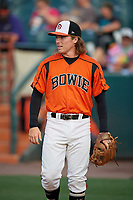 Bowie Baysox Willy Yahn (27) before an Eastern League game against the Richmond Flying Squirrels on August 15, 2019 at Prince George's Stadium in Bowie, Maryland.  Bowie defeated Richmond 4-3.  (Mike Janes/Four Seam Images)