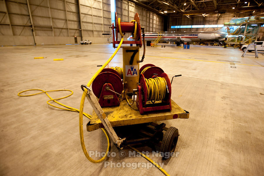 American Airlines maintenance equipment in a hangar at Dallas-Fort Worth International Airport (DFW) in Dallas, Texas, Friday, May 14, 2010. ..PHOTO: MATT NAGER