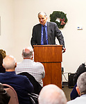 "WINSTED, CT, CT - 30 NOVEMBER 2018 - 122918JW01.jpg -- Winsted resident Ralph Nader discusses the operations of Congress during the book signing for his new book ""How The Rats Re-formed Congress"", Saturday afternoon at the Winsted Community Bookstore. Jonathan Wilcox Republican-American"