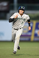 Dayton Dragons shortstop Alex Blandino (2) running the bases during a game against the South Bend Silver Hawks on August 20, 2014 at Four Winds Field in South Bend, Indiana.  Dayton defeated South Bend 5-3.  (Mike Janes/Four Seam Images)