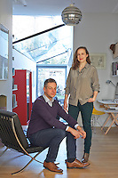 Architects, Jelena and Ben Cousins in their London home