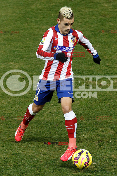 Atletico de Madrid's Antoine Griezmann during La Liga match.January 24,2015. (ALTERPHOTOS/Acero) /NortePhoto<br /> NortePhoto.com