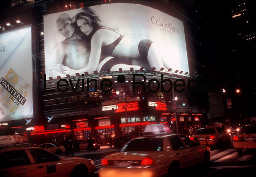 Calvin Klein billboard on 42nd Street in Times Square on February 10, 2006. (© Richard B. Levine)
