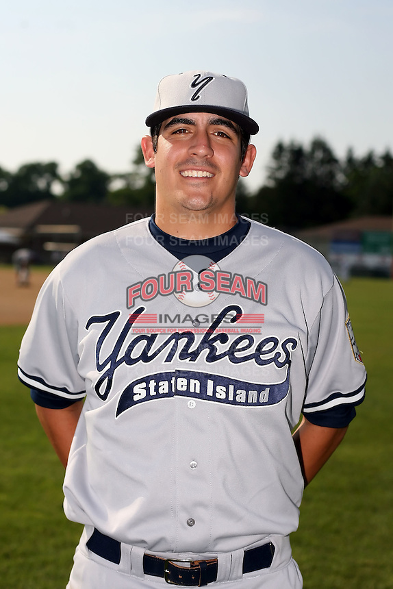 July 5th 2008:  Pitcher Cory Arbiso of the Staten Island Yankees, Class-A affiliate of the NY Yankees, during a game at Falcon Park in Auburn, NY.  Photo by:  Mike Janes/Four Seam Images