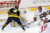 Pat Bowen (Merrimack - 4), Andrew Brathwaite (Merrimack - 33), Cam Atkinson (BC - 13) - The Boston College Eagles defeated the Merrimack College Warriors 7-0 on Tuesday, February 23, 2010 at Conte Forum in Chestnut Hill, Massachusetts.
