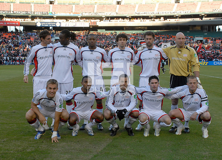 New England Revolution starting eleven. The New England Revolution defeated DC United 1-0 to win the Eastern Conference Final and advance to the MLS Cup on Sunday, November 5, 2006 at RFK Stadium.