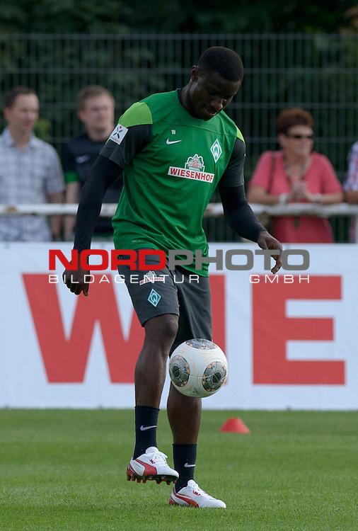 20.07.2013, Sportplatz, Blankenhain, GER, 1.FBL, Trainingslager Werder Bremen 2013, im Bild Joseph Akpala (Bremen #19)<br /> <br /> Foto &not;&copy; nph / Frisch