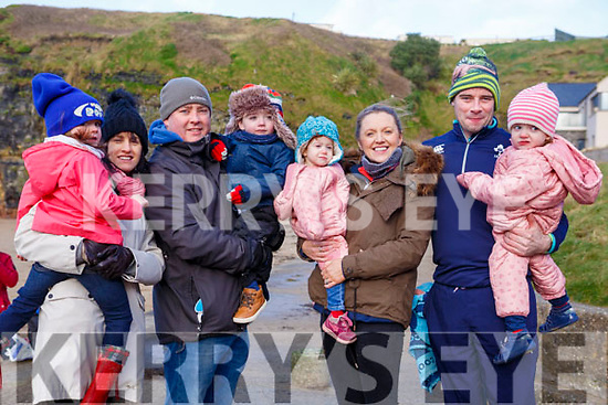 Attending the Fourth Annual Connie Harnett Memorial Swim in Ballybunion on New Years Day, from Abbeyfeale, <br /> l-r, Niamh,Helen, Paul &amp; Cian Hickey, Hannah, Aine, Michael &amp; Megan Reidy.