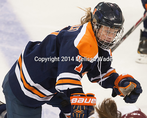 Jessica Sibley (SU - 7) - The Boston College Eagles defeated the visiting Syracuse University Orange 10-2 on Saturday, October 4, 2014, at Kelley Rink in Conte Forum in Chestnut Hill, Massachusetts.