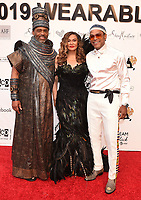 SANTA MONICA - JUNE 1: Richard Lawson, Tina Knowles Lawson, and Maxwell attend the 3rd Annual Wearable Art Gala at Barker Hangar on June 1, 2019 in Santa Monica, California. (Photo by Frank Micelotta/PictureGroup)