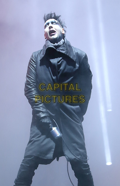 DERBY, ENGLAND - Marilyn Manson performs at Download Festival - Day 2 - at Donington Park, on 13th June 2015 in Derby, England<br /> CAP/ROS<br /> &copy;Steve Ross/Capital Pictures