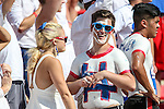 SMU fans enjoying the action during the game between the Texas A&M Aggies and the SMU Mustangs at the Gerald J. Ford Stadium in Fort Worth, Texas. A & M defeats SMU 58 to 6.