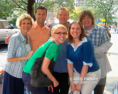 Summer 2006 - Manhattan, New York, U.S. - Chain Reaction game show teams Parry Girls, L-R, Ann and daughters Laurie and Sue; and Jersey Boys, ministers from New Jersey, afer taping Games Show Network episode.