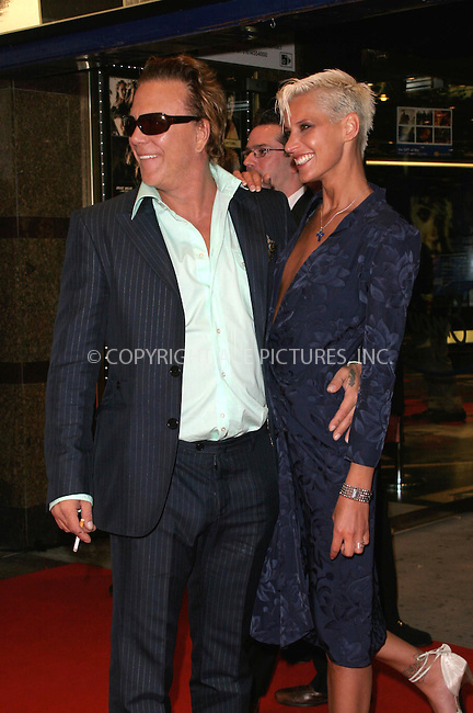 WWW.ACEPIXS.COM . . . . .  ... . . . . US SALES ONLY . . . . .....LONDON, MAY 23RD 2005....Mickey Rourke and Eve Salvail at the UK premiere of Sin City at the Odeon West End.....Please byline: FAMOUS-ACE PICTURES-F. DUVAL... . . . .  ....Ace Pictures, Inc:  ..Craig Ashby (212) 243-8787..e-mail: picturedesk@acepixs.com..web: http://www.acepixs.com