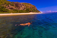 Snorkeling, Honeymoon Island, Fiji Islands