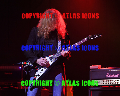 POMPANO BEACH FL - MARCH 03: Dave Mustaine performs during Experience Hendrix at The Pompano Beach Amphitheater on March 3, 2019 in Pompano Beach, Florida. Photo by Larry Marano © 2019